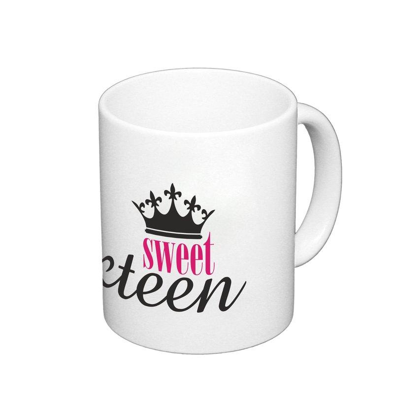 kaffeebecher sweet sixteen geschenk becher geburtstag. Black Bedroom Furniture Sets. Home Design Ideas