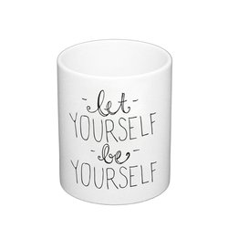 Kaffeebecher Let Yourself Be Yourself Hipster