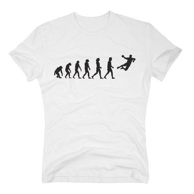 ... Herren T-Shirt - Handball Evolution - Hobby Team Mannschaft Sport  Verein Wurf