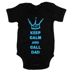 Baby Body - Keep calm and call Dad - Superheld rufen Ruhe...