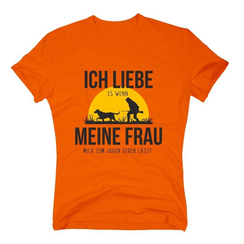 Herren T-Shirt - Ich liebe es, wenn meine Frau mich zum