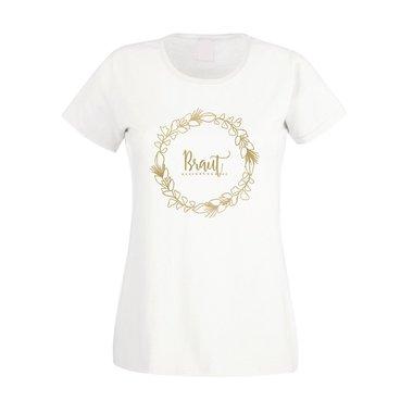 Braut Blumenkranz Jga Damen T Shirt