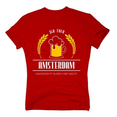 Amsterdam - JGA Tour - Hackedicht durch die Nacht - Herren T-Shirt - Party Team