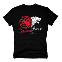 Game of Thrones - The Dragon & the Wolf - GoT Herren...