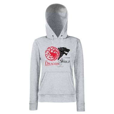Game of Thrones - The Dragon & the Wolf - Targaryen & Stark - GoT Damen Hoodie