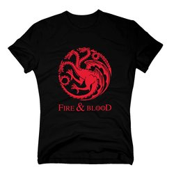 Game of Thrones - Fire & Blood - Targaryen - Herren T-Shirt