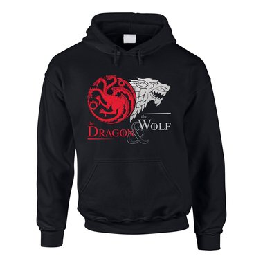 Game of Thrones - The Dragon & the Wolf - Targaryen & Stark - GoT Herren Hoodie