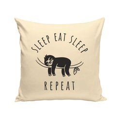 Sleep Eat Sleep - Repeat - Dekokissen - Faultier...