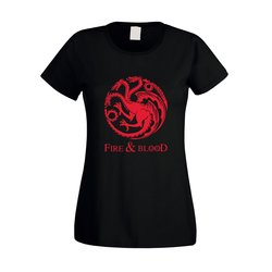 Game of Thrones - Fire & Blood - Targaryen - Damen T-Shirt