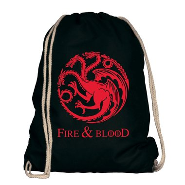 Game of Thrones - Fire & Blood - Targaryen Wappen - Turnbeutel