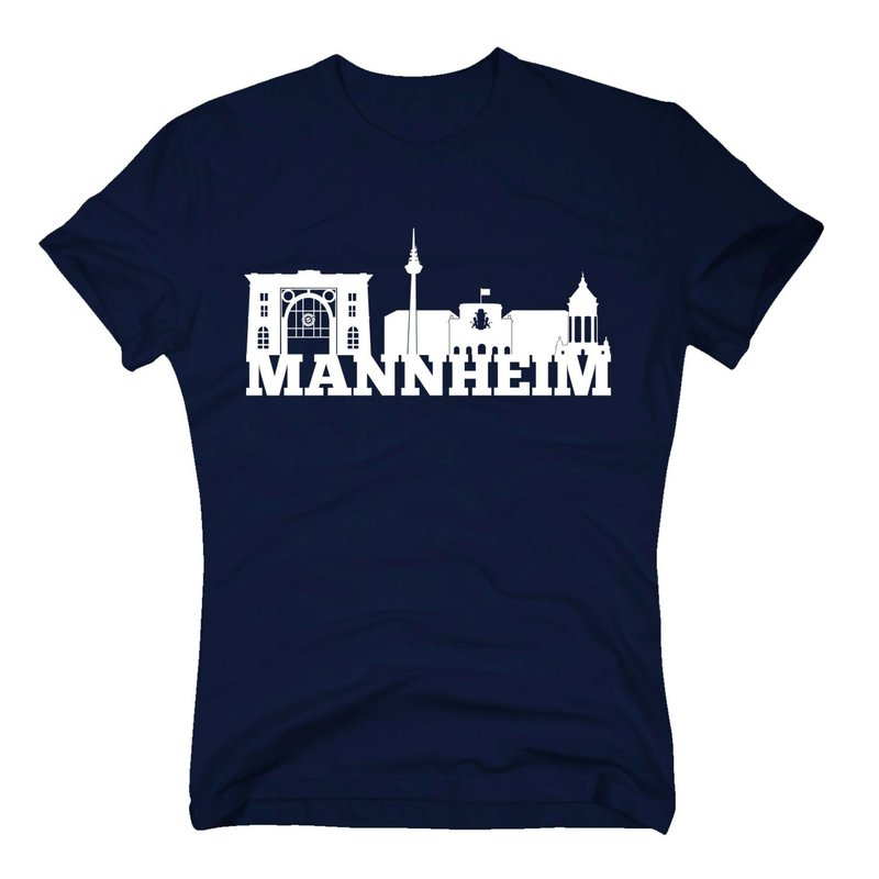 mannheim skyline herren t shirt. Black Bedroom Furniture Sets. Home Design Ideas