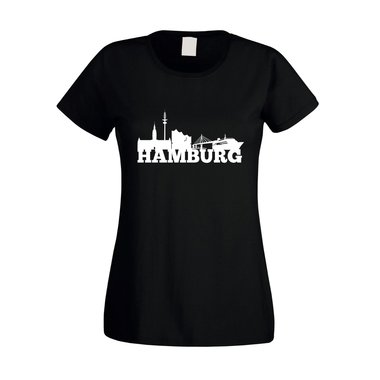 Hamburg Skyline - Damen T-Shirt
