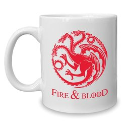 Kaffeebecher - Tasse - Fire and Blood - Game of Thrones