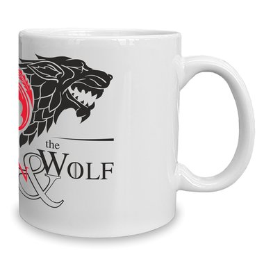 Game of Thrones - Kaffeebecher - Tasse - The Dragon & the Wolf