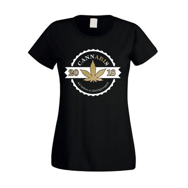 Damen T-Shirt - Cannabis - Abitur 2018