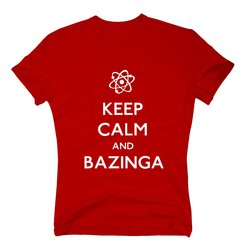 Herren T-Shirt - Keep Calm And Bazinga
