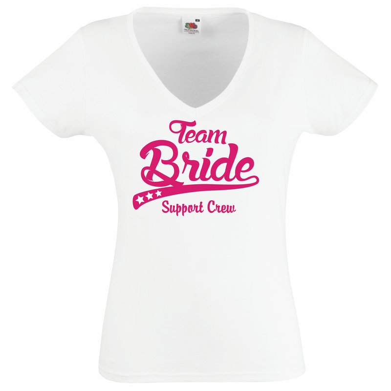 t shirt damen junggesellenabschied team bride support crew. Black Bedroom Furniture Sets. Home Design Ideas
