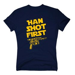 Herren T-Shirt - Han shot first