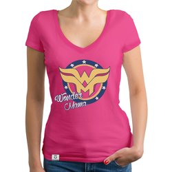 Damen T-Shirt V-Neck - Wonder Mama