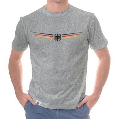efbf188e8ca352 Herren T-Shirt - Adler und Flagge mit Wunschnummer und Wunschname hinten ...