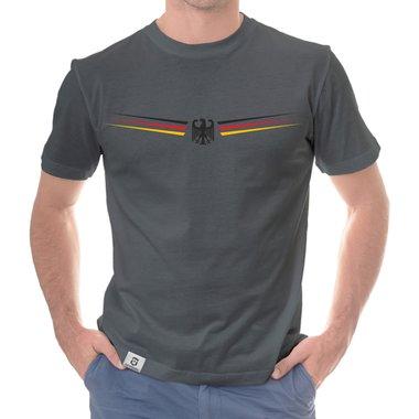 ... Herren T-Shirt - Adler und Flagge mit Wunschnummer und Wunschname  hinten ... d88c850e03