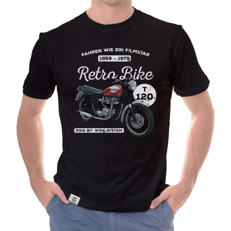 retro bike herren t shirt. Black Bedroom Furniture Sets. Home Design Ideas