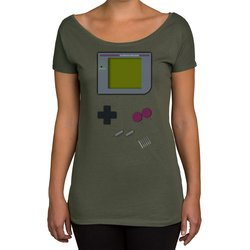 Damen T-Shirt U-Boot-Ausschnitt - Gaming Classic