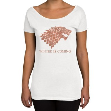 Damen T-Shirt U-Boot-Ausschnitt - GoT - Winter is coming
