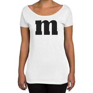 451b14a28f75a2 Damen T-Shirt U-Boot-Ausschnitt - M und M ...