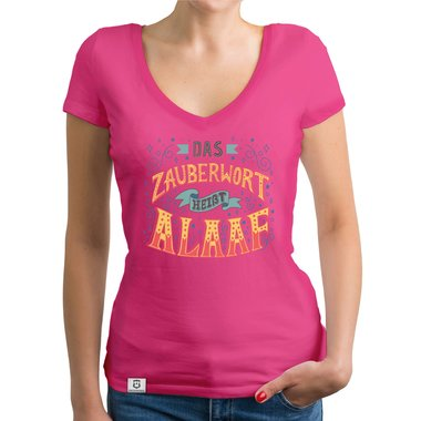 zauberwort alaaf damen t shirt v ausschnitt. Black Bedroom Furniture Sets. Home Design Ideas