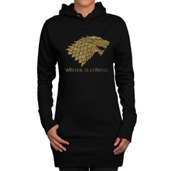 Damen Long Hoodie - GoT - Winter is coming