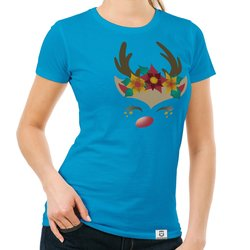 Damen T-Shirt - Happy Rentier