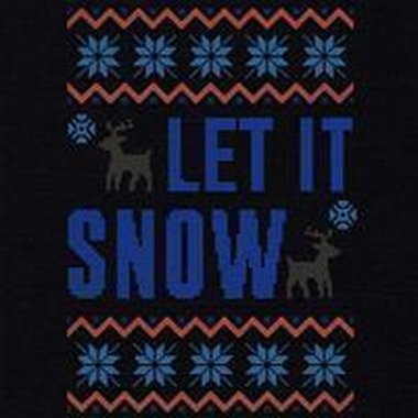 Damen T-Shirt V-Ausschnitt - Let it snow