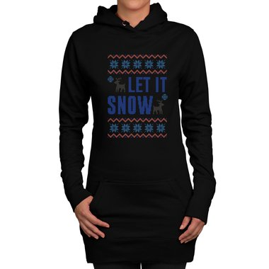 Damen Long Hoodie - Let it snow