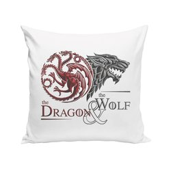 Game of Thrones - Kissen - Dragon and Wolf Wappen