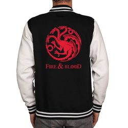 Herren College Jacke - GoT - Fire & Blood