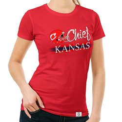 Damen T-Shirt - Chief - Kansas