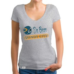 Damen T-Shirt V-Ausschnitt - Da Bear - Windy City