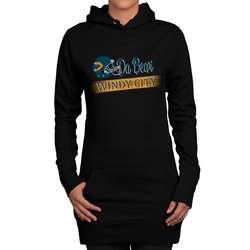 Damen Long Hoodie - Da Bear - Windy City