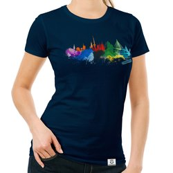Damen T-Shirt - Hamburg Aquarell