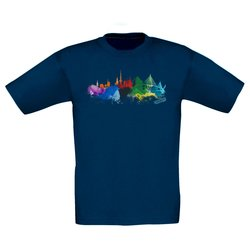 Kinder T-Shirt - Hamburg Aquarell