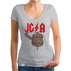 Damen JGA T-Shirt V-Ausschnitt - Highway to Marriage