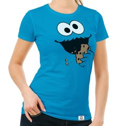 Damen T-Shirt - Keks Monster