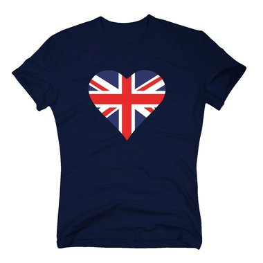 T-Shirt Herz England Flagge Love