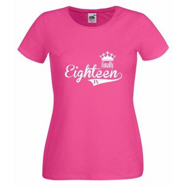 5c0154e04da167 Damen T-Shirt - Finally Eighteen - Endlich 18 | Shirt Department