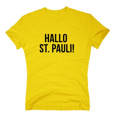 hallo st pauli herren t shirt f r hamburg fans shirt. Black Bedroom Furniture Sets. Home Design Ideas