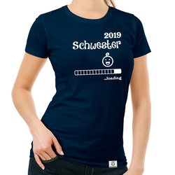 Damen T-Shirt - Schwester 2019 loading