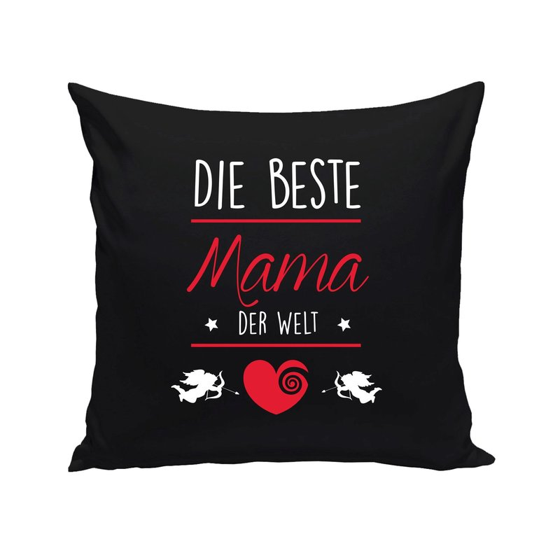 dekokissen muttertag die beste mama der welt. Black Bedroom Furniture Sets. Home Design Ideas
