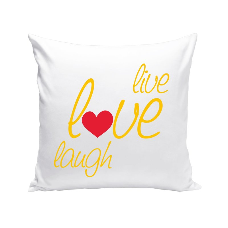 dekokissen live love laugh. Black Bedroom Furniture Sets. Home Design Ideas