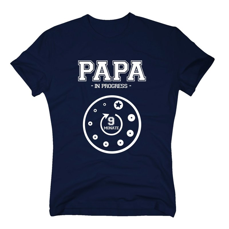 herren t shirt papa in progress. Black Bedroom Furniture Sets. Home Design Ideas